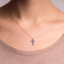 Srebrny Naszyjnik Celebrytka Krzyżyk
