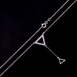 Srebrny Naszyjnik Wiszący Trójkąt