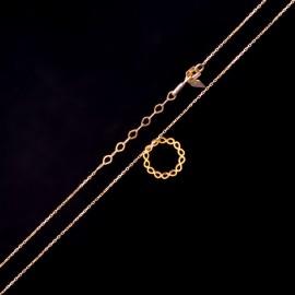 Złoty Naszyjnik Celebrytka Koło Nieskończoność