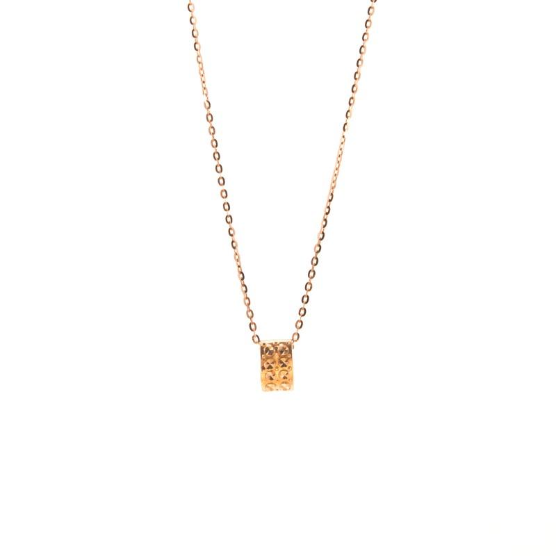 Złoty Naszyjnik Prostokąt