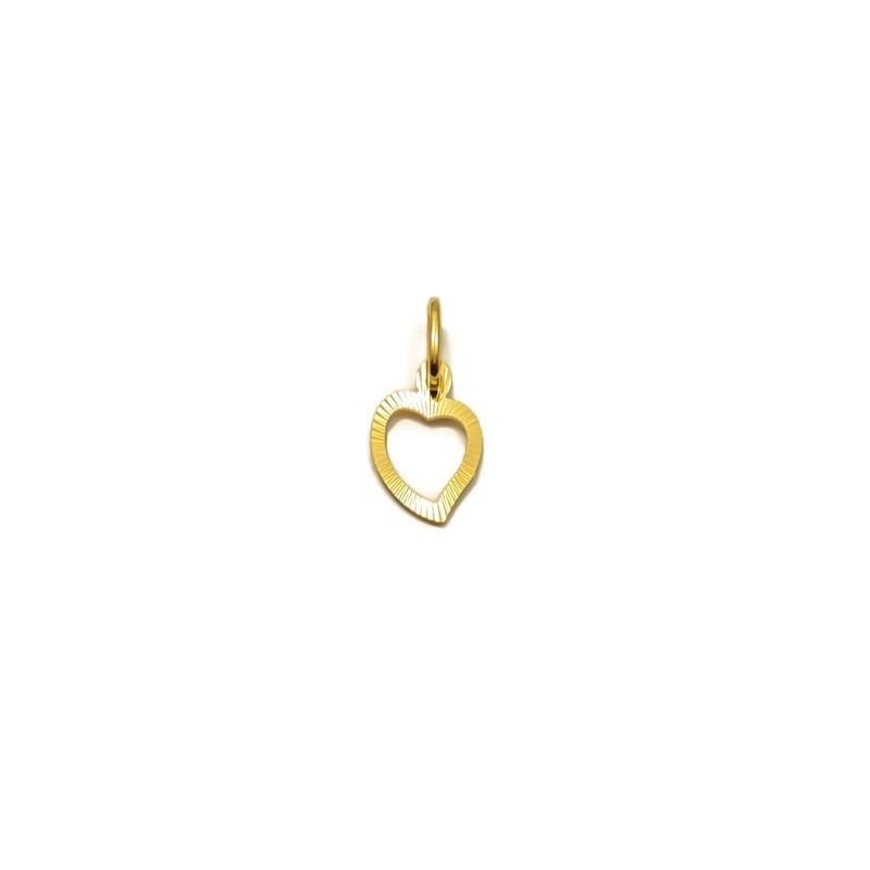 Złoty DWUSTRONNY Wisiorek pr333 KLASYCZNE SERCE