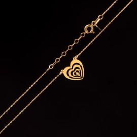 Złoty Naszyjnik Celebrytka Piękne Serce Grawer