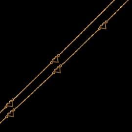 Złoty Naszyjnik Celebrytka Pięć Serc Grawer