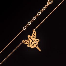 Złoty Naszyjnik Celebrytka Wróżka Grawer