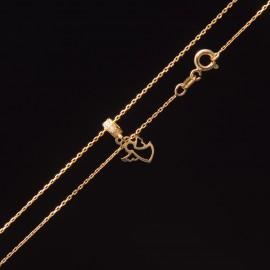 Złoty Naszyjnik Aniołek Na Kółku