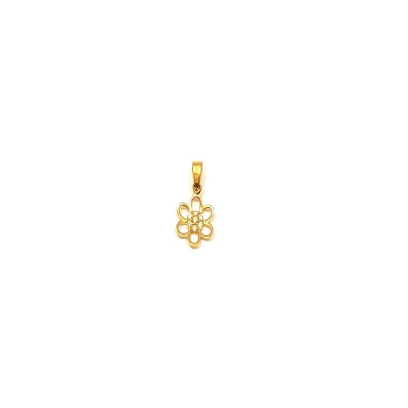 Złoty Wisiorek pr585 PIĘKNY KWIATEK Cyrkonia