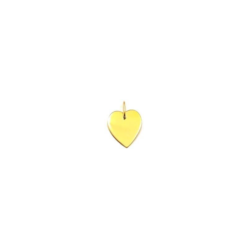 Złoty Wisiorek pr585 MODNE KLASYCZNE SERCE