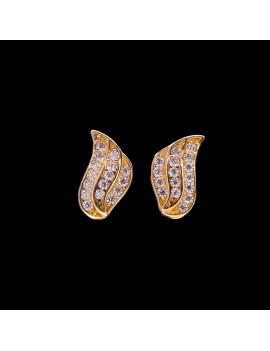 Złote Kolczyki Sztyfty Skrzydła Anioła