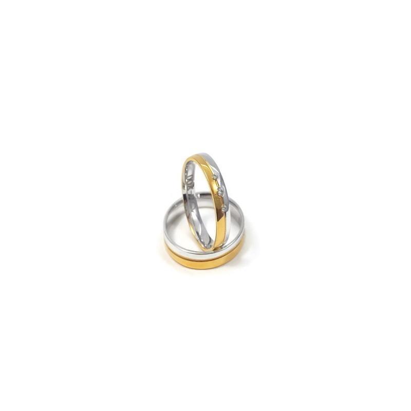 Złote Obrączki Ślubne 585 model FA08 DUŻY WYBÓR