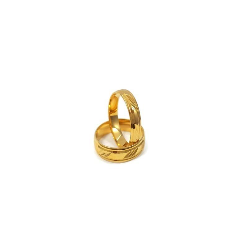 Złote Obrączki Ślubne 585 model FA09 DUŻY WYBÓR