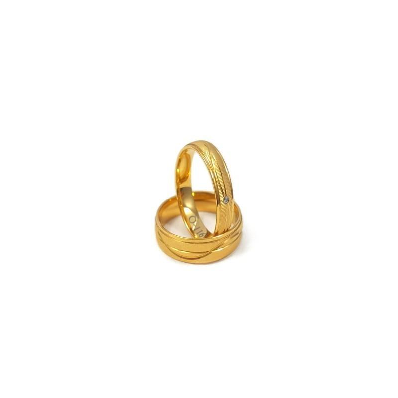 Złote Obrączki Ślubne 585 model FA01 DUŻY WYBÓR