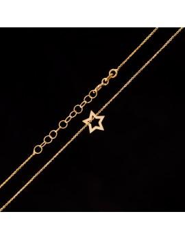 Złoty Naszyjnik Celebrytka Gwiazdka