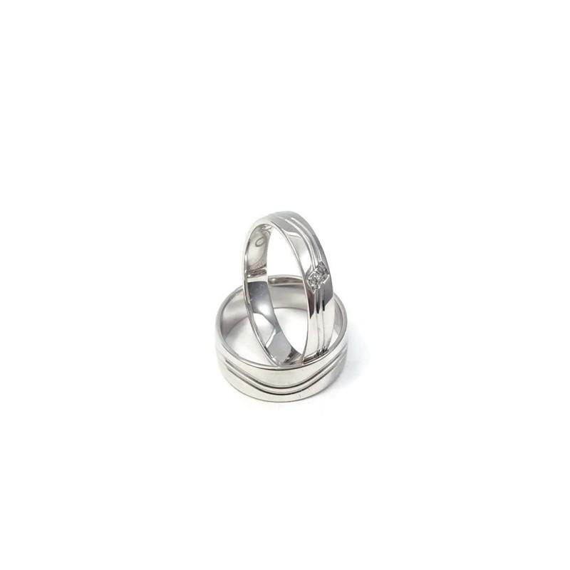 Złote Obrączki Ślubne 585 model FA04 DUŻY WYBÓR