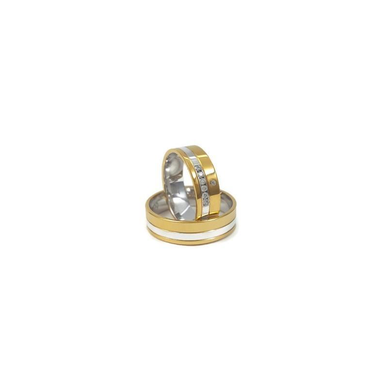 Złote Obrączki Ślubne 585 model FA05 DUŻY WYBÓR
