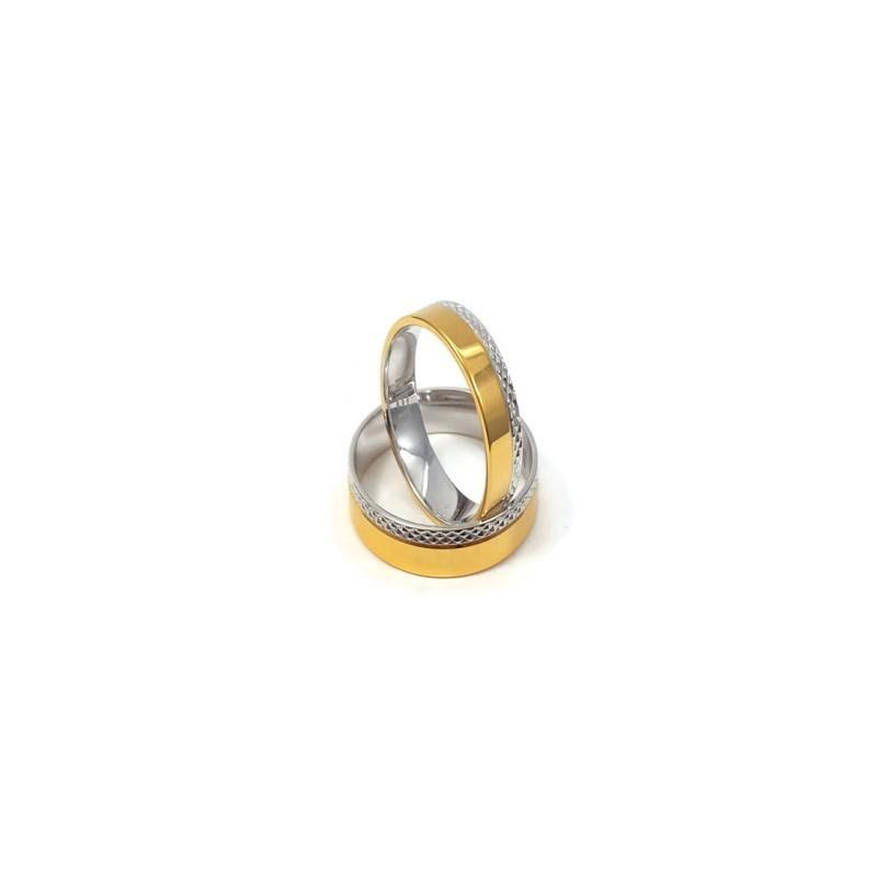 Złote Obrączki Ślubne 585 model FA06 DUŻY WYBÓR