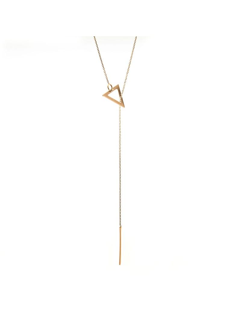 Złoty Naszyjnik Krawatka Trójkąt
