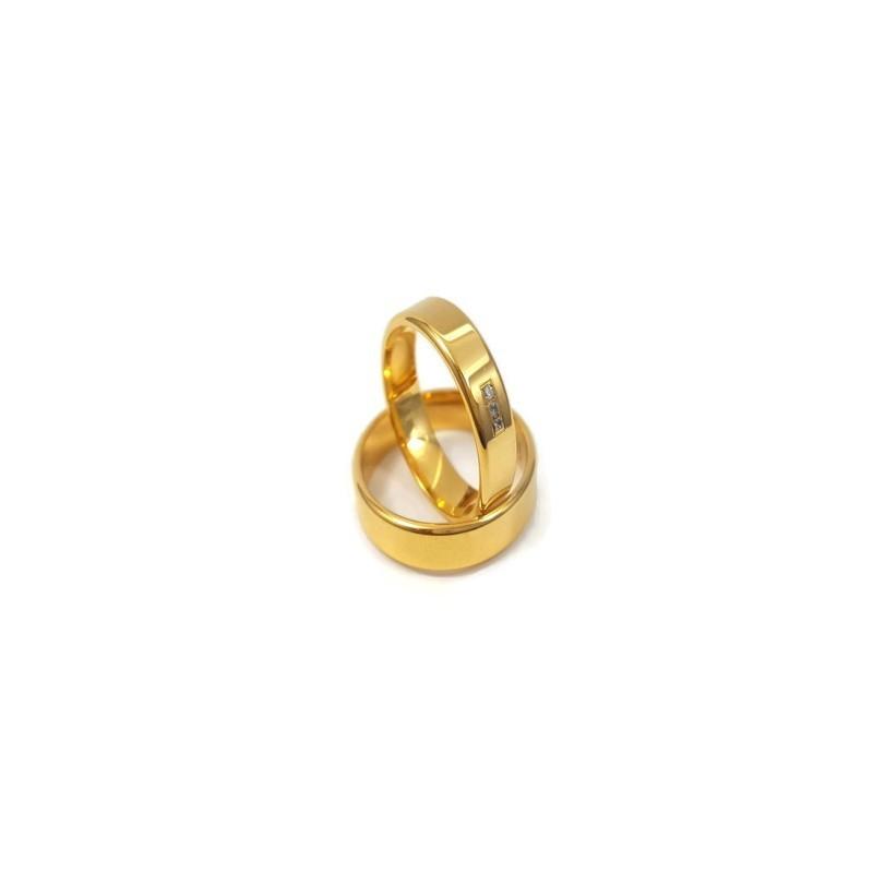 Złote Obrączki Ślubne 585 model FA14 DUŻY WYBÓR