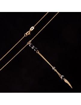 Złoty Naszyjnik Krawatka Skrzydła Grawer