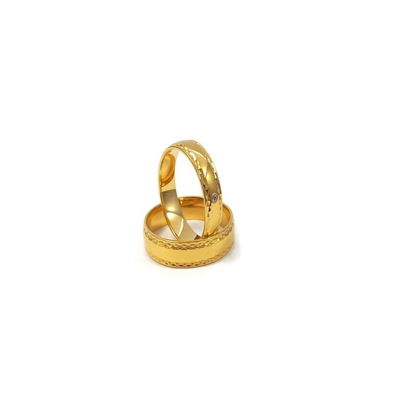 Złote Obrączki Ślubne 585 model FA16 DUŻY WYBÓR