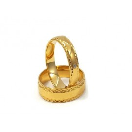 Złote Obrączki Ślubne 333 model FA16 DUŻY WYBÓR