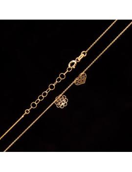 Złoty Naszyjnik Celebrytka Serce I Kwiat