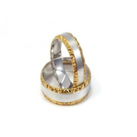 Złote Obrączki Ślubne 585 model FA17 DUŻY WYBÓR