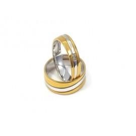 Złote Obrączki Ślubne 585 model FA18 DUŻY WYBÓR