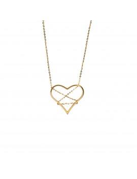Złoty Naszyjnik Duże Serce