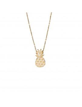 Złoty Naszyjnik Ananas