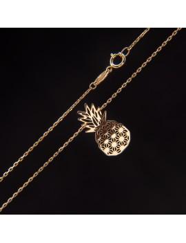 Złoty Naszyjnik Celebrytka Ananas