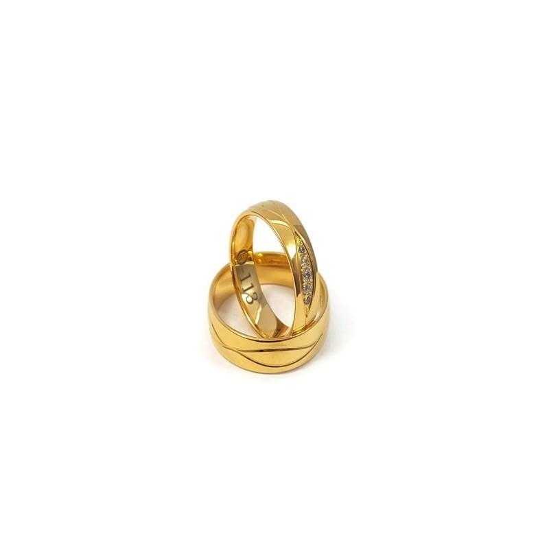 Złote Obrączki Ślubne 585 model FA22 DUŻY WYBÓR