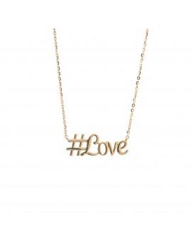 Złoty Naszyjnik Hashtag Love