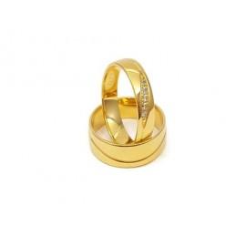 Złote Obrączki Ślubne 585 model SU02 DUŻY WYBÓR