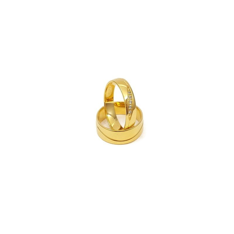 Złote Obrączki Ślubne 333 model SU02 DUŻY WYBÓR