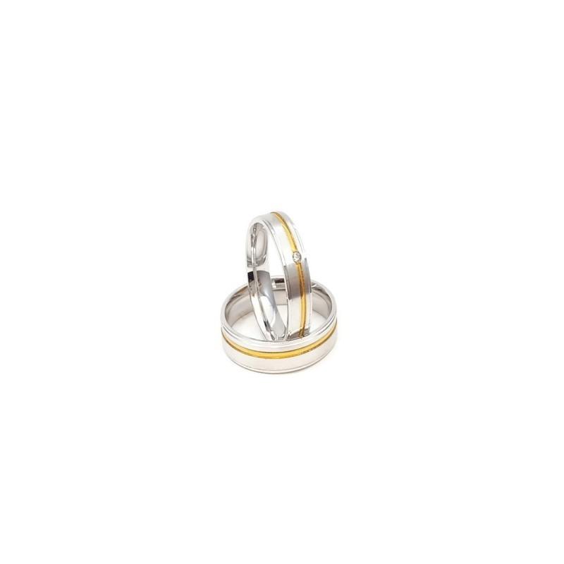 Złote Obrączki Ślubne 585 model SU03 DUŻY WYBÓR