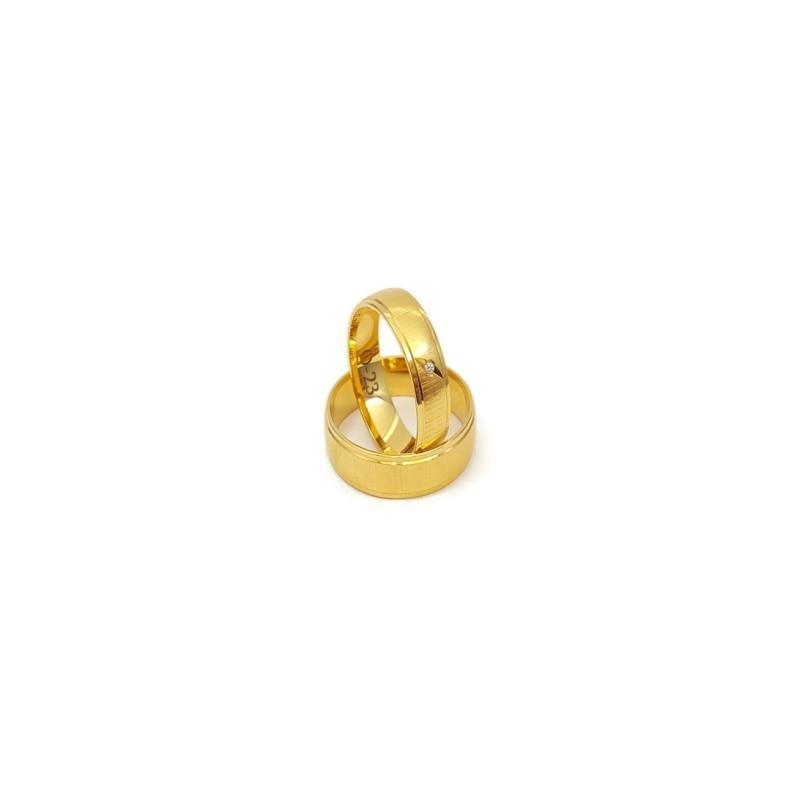 Złote Obrączki Ślubne 585 model SU04 DUŻY WYBÓR