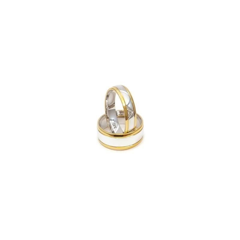 Złote Obrączki Ślubne 585 model SU06 DUŻY WYBÓR