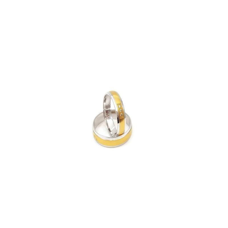 Złote Obrączki Ślubne 585 model SU07 DUŻY WYBÓR
