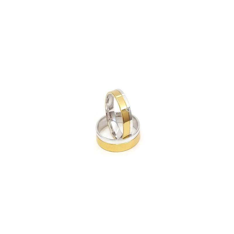 Złote Obrączki Ślubne 585 model SU08 DUŻY WYBÓR