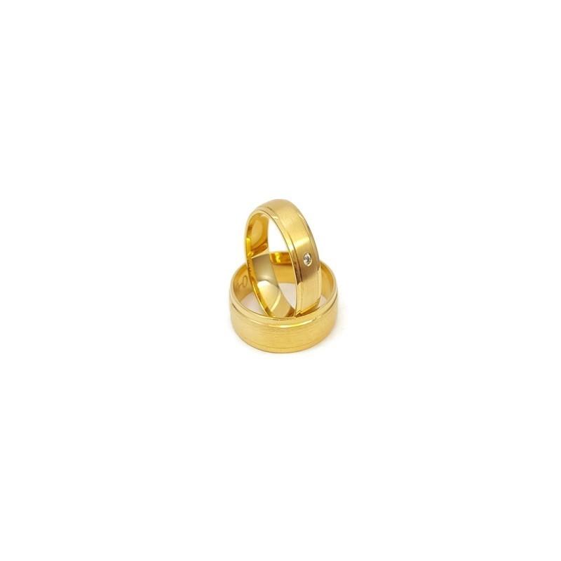 Złote Obrączki Ślubne 585 model SU09 DUŻY WYBÓR