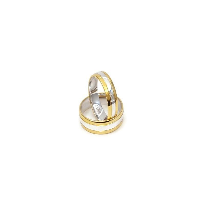 Złote Obrączki Ślubne 585 model SU11 DUŻY WYBÓR