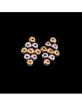Złote Kolczyki Sztyfty Romby