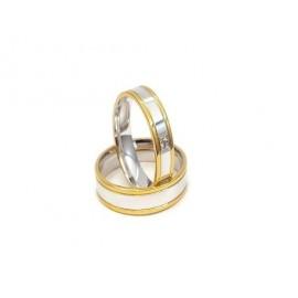 Złote Obrączki Ślubne 585 model SU15 DUŻY WYBÓR