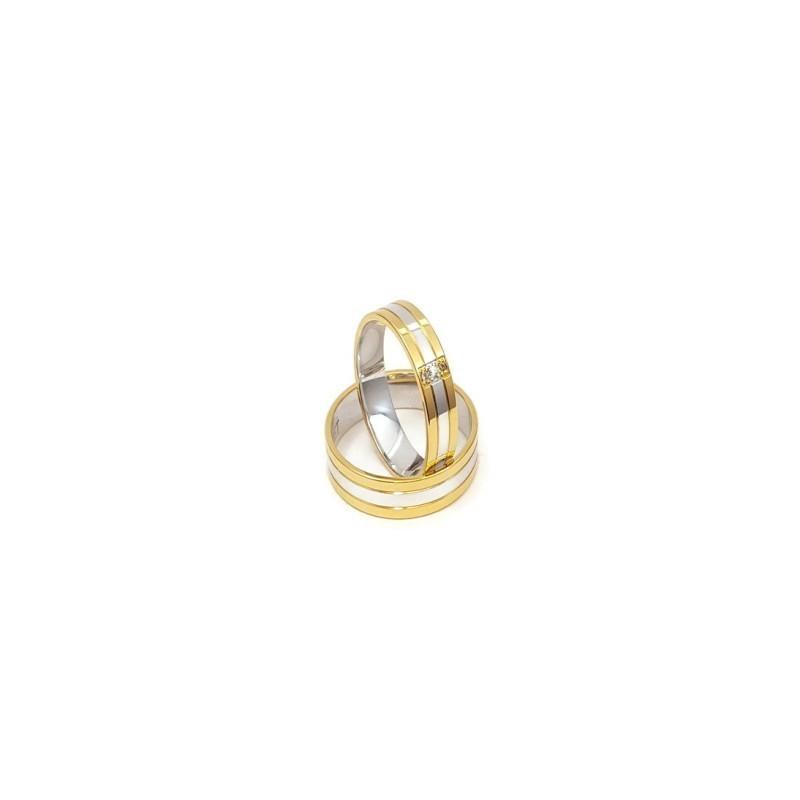 Złote Obrączki Ślubne 585 model SU16 DUŻY WYBÓR