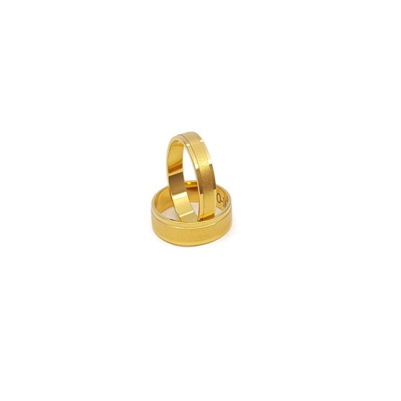 Złote Obrączki Ślubne 585 model SU17 DUŻY WYBÓR