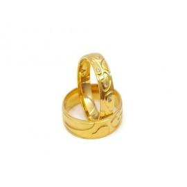 Złote Obrączki Ślubne 585 model SU18 DUŻY WYBÓR