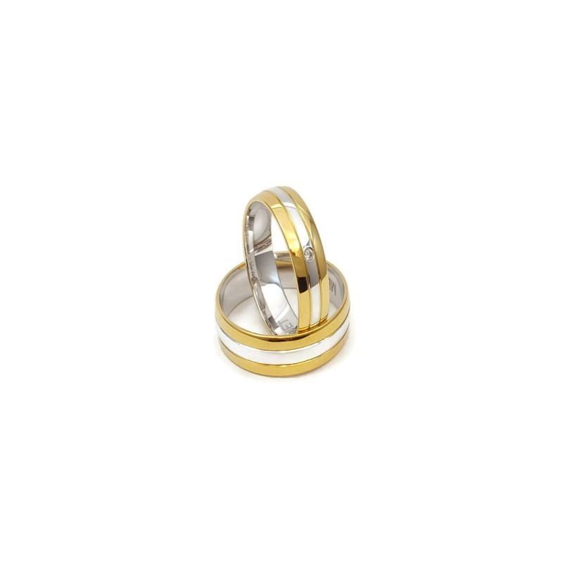 Złote Obrączki Ślubne 585 model SU19 DUŻY WYBÓR