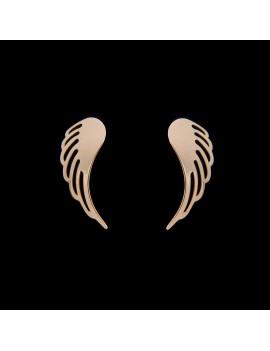 Złote Kolczyki Skrzydła Anioła