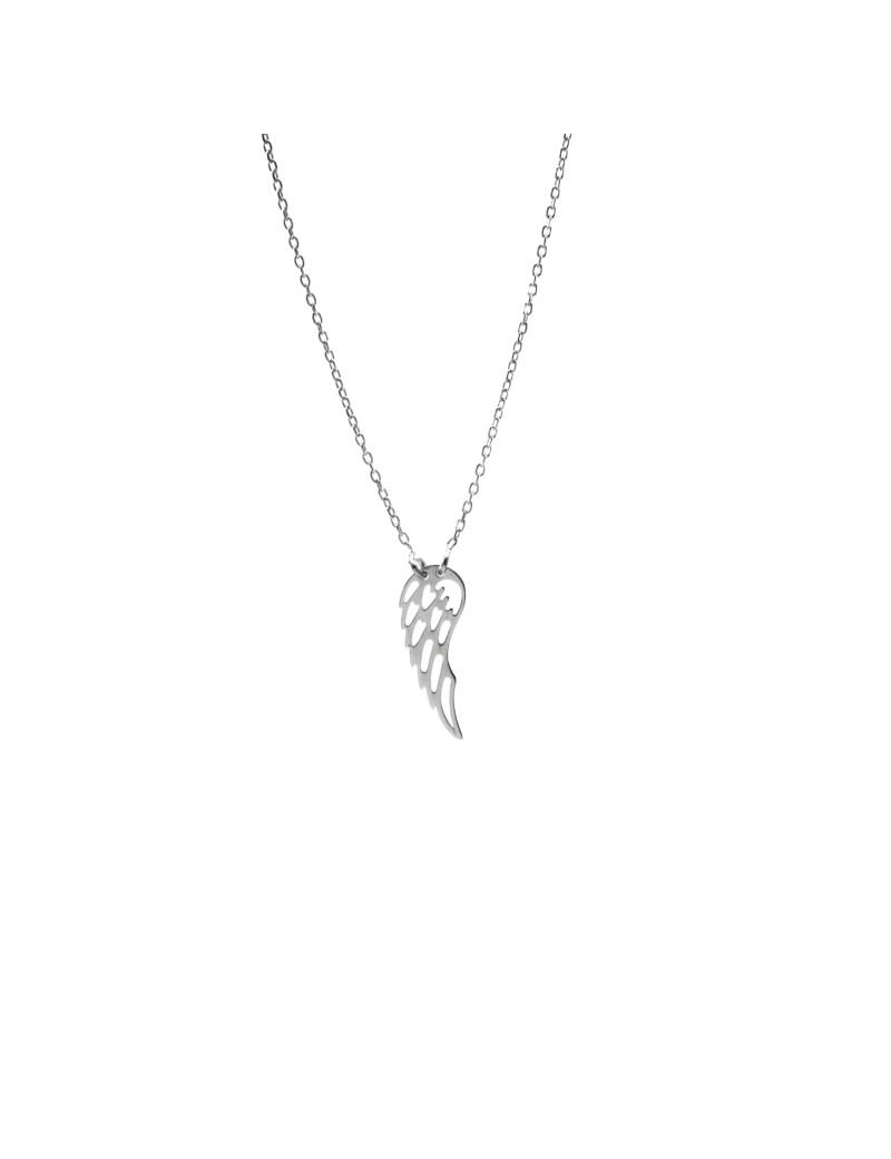 Srebrny Naszyjnik Celebrytka Skrzydło Anioła