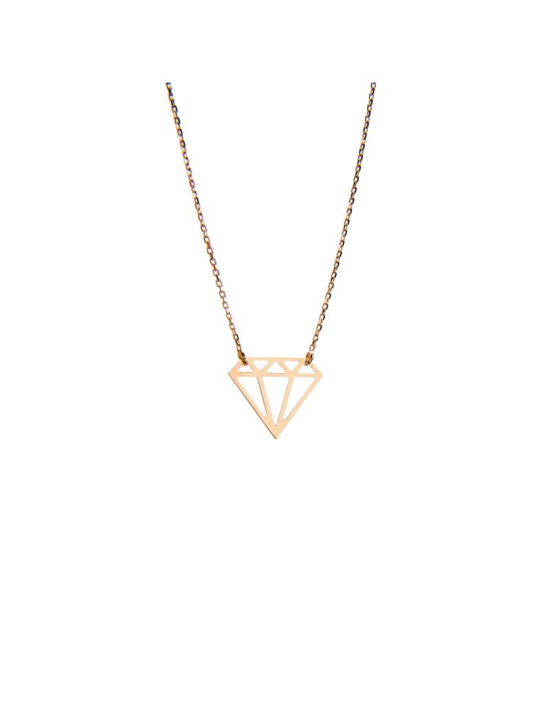 Złoty Naszyjnik Celebrytka Brylant/Diament